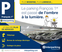 Fin des travaux de rénovation du parking François 1er.